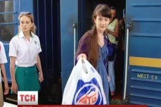210 детей, которых вывезли из Славянска, приехали в Форос