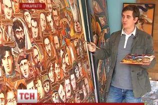 """В Івано-Франківську художник намалював ікону """"Небесна сотня"""""""