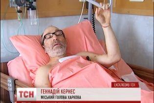 Кернес показав сліди від поранення і заявив, що в нього стріляли через політику