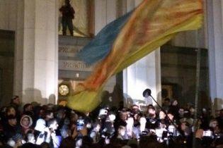 """В """"Правом секторе"""" открестились от штурма Рады и заявили, что """"сдерживали людей"""""""