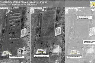 Супутники НАТО сфотографували танки Росії на кордоні з Україною