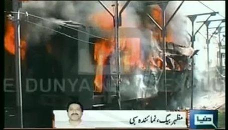 В Пакистане взорвали пассажирский поезд