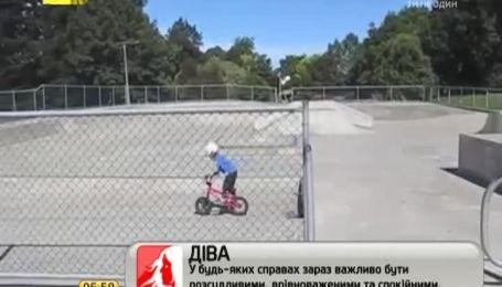 Сеть взорвали 4-летние велосипедисты-экстремалы
