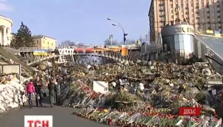 Монумент героям небесной сотни установят к годовщине событий на Грушевского