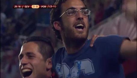 Севілья - Порту - 3:0. Відео голу Бакки
