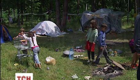 Цыгане с Востока разбили лагерь в одном из парков столицы
