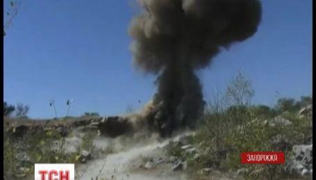 25 кіло вибухівки виявили на Запоріжжі