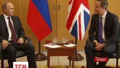 Британський прем'єр відмовився потиснути руку Путіну