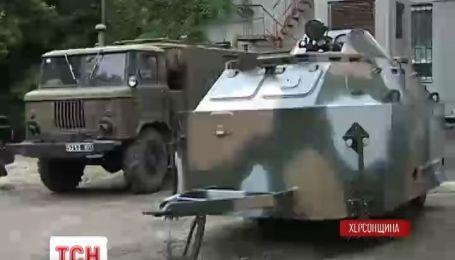 Херсонские пограничники испытали передвижной блокпост