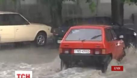 Злива з градом залила Сімферополь