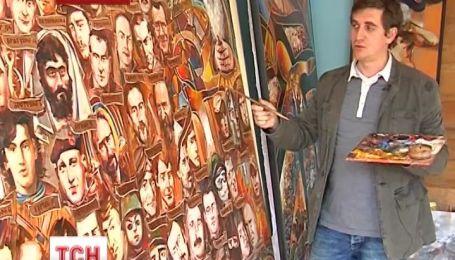 """Ивано-Франковский художник нарисовал икону """"Небесная сотня"""""""