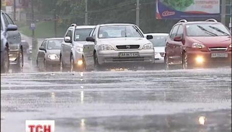 В Украину пришел циклон с дождем, грозами и градом - прогноз