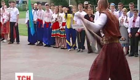 Киевским ученикам устроили военизированные соревнования