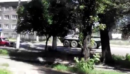 Жители Горловки зафиксировали танки на улицах города