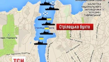 Украинский флот пытается прорваться сквозь осаду в Донузлаве