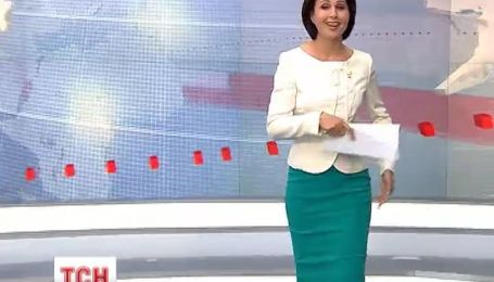 Ведущая Наталья Мосейчук чуть не упала в прямом эфире ТСН