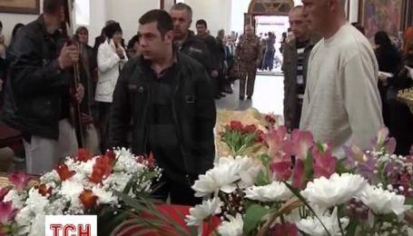 В Славянске похоронили трех погибших в перестрелке на блокпосту