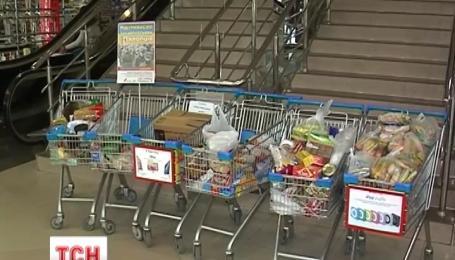 Почти тонну продуктов всего за четыре дня собрали ужгородцы для военных