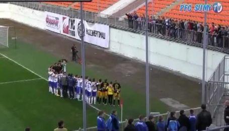 Футболисты Сум спели гим Украины