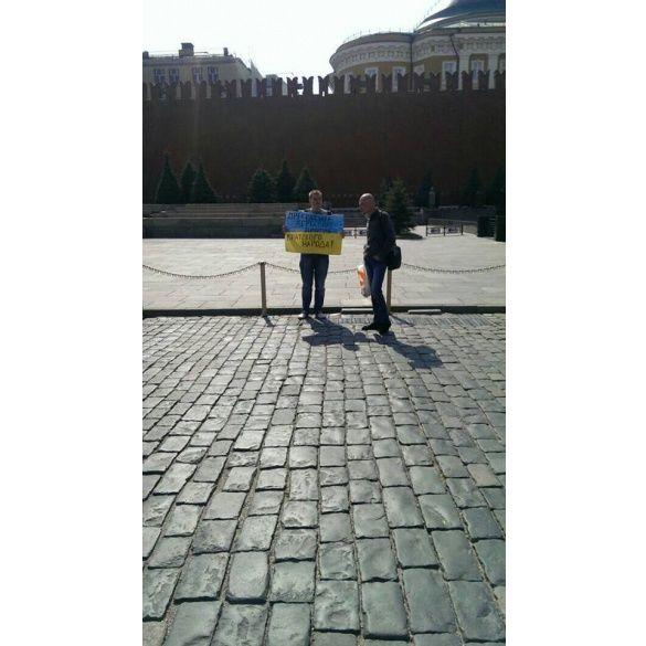 Пікетувальник біля Кремля. Сергій Васильченко