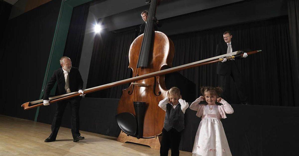 Найбільша скрипка довжиною 4,2 м і шириною 1,23 м @ Guinness World Records