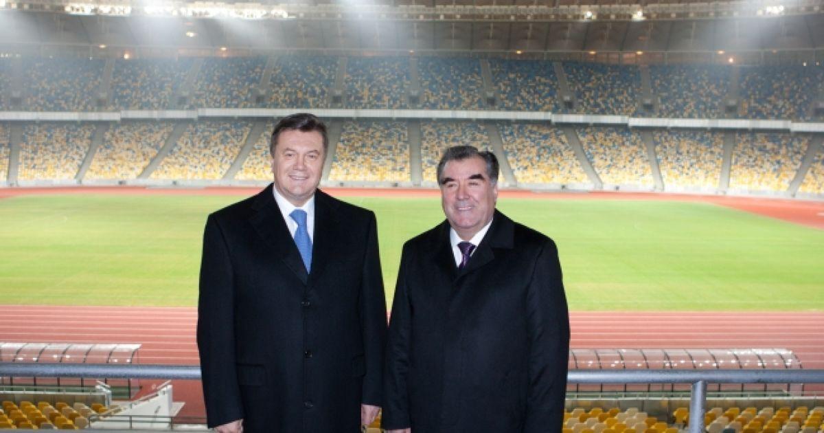 """Президенти відвідали реконструйований НСК """"Олімпійський"""" @ President.gov.ua"""