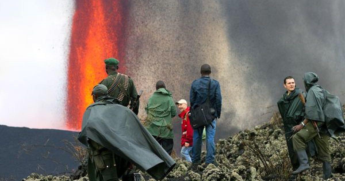 Извержение вулкана Ньямлагира, ноябрь 2011 @ National Geographic