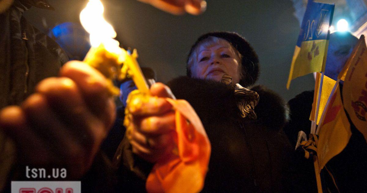 Мітинг на Майдані Незалежності в Києві з нагоди сьомої річниці Помаранчевої революції та Дня Свободи. @ Євген Малолєтка/ТСН.ua