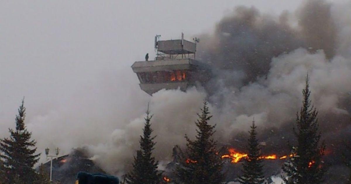 "Пожежа повністю знищила аеропорт ""Черемшанка"" @ Google+/Maxim Balashov/фото Сергей Трудов"