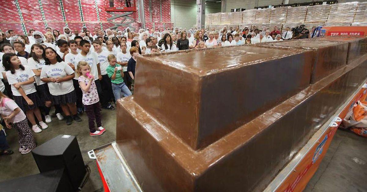 Найбільшу шоколадку вагою 5574 кг створили у Чикаго @ Guinness World Records