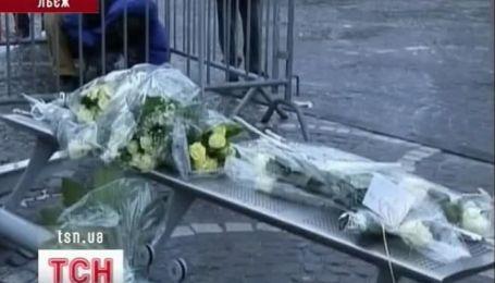 Чествование памяти погибших в Бельгии