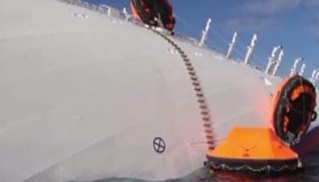 Costa Concordia начала двигаться