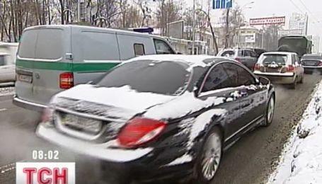 Вчера Киев замер в рекордной пробке