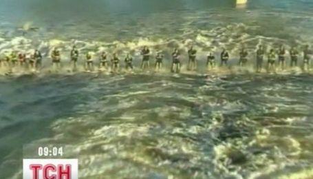 Рекордный заезд на водных лыжах в Австралии