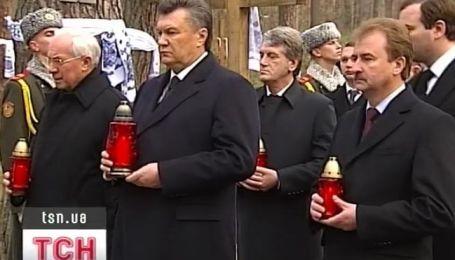 Первые лица страны почтили память жертв Голодомора