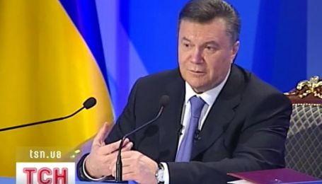 Президент Виктор Янукович сегодня вышел в прямой эфир