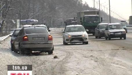 На Бориспільській трасі одна за одною сталося кілька аварій