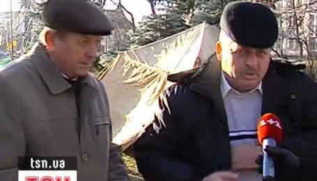 Во Львове поддержали чернобыльцев