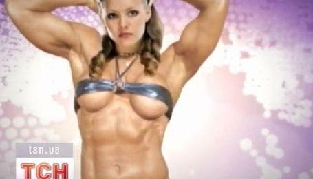 Алена Шоптенко наращивает мышцы