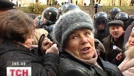 Седьмые сутки на морозе в палаточном городке голодают инвалиды-чернобыльцы