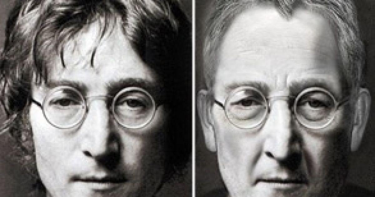 Так виглядав би Джон Леннон, якби дожив до свого ювілею. Коллаж dailymail.co.uk @ Архів