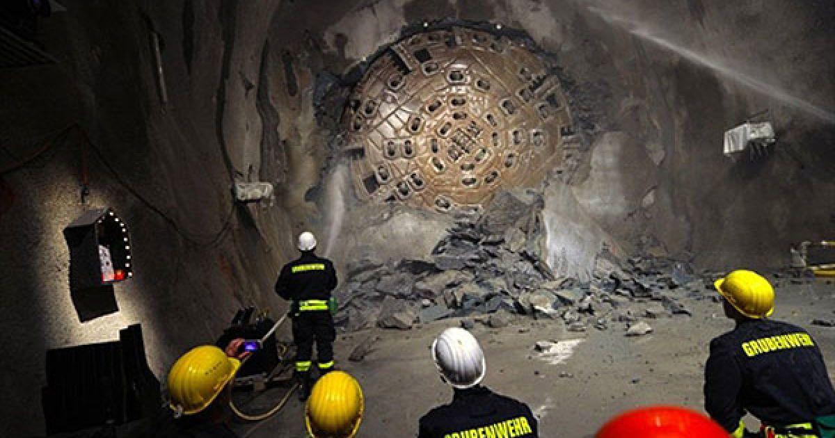 Готардський тунель призначений для поліпшення транспортного сполучення між північною і південно-східною Європою. @ AFP