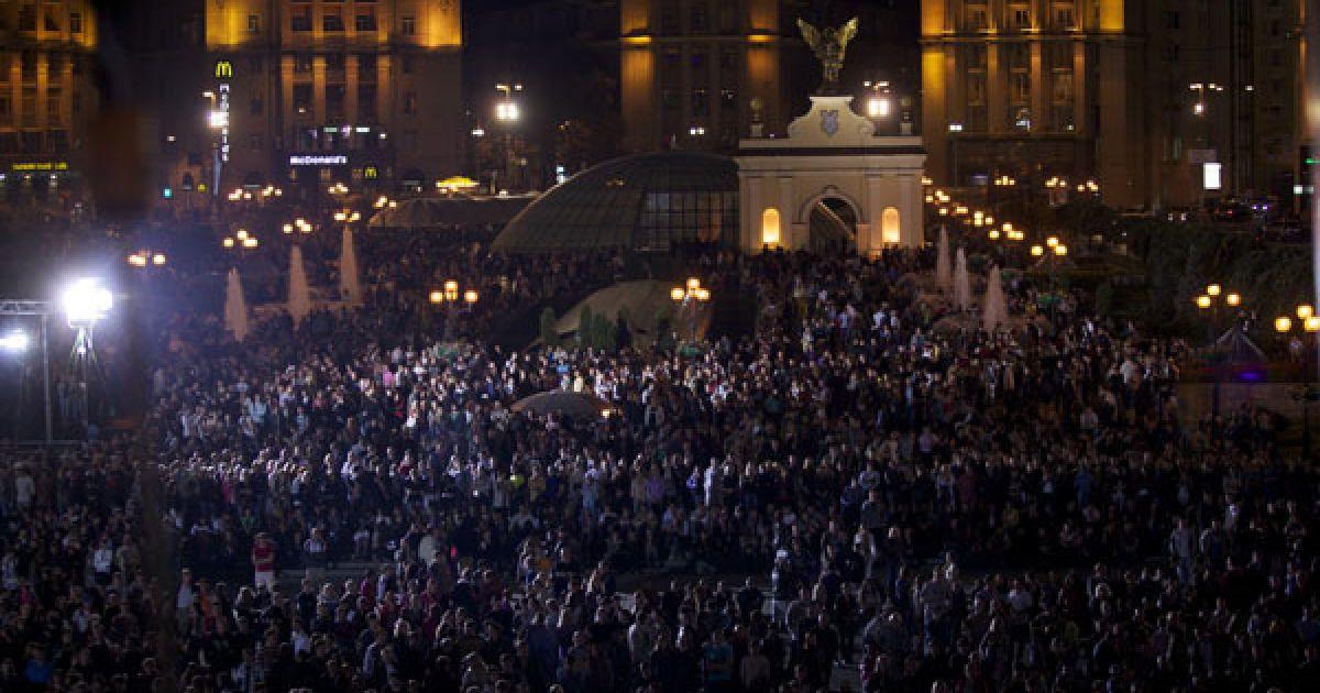 """Концерт на честь 15-річчя каналу """"1+1"""", який пройшов на Майдані Незалежності у Києві, зібрав більше 100 тисяч людей."""