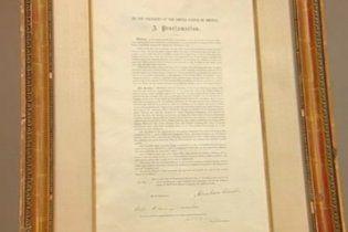 Копію Прокламації про скасування рабства в США продадуть на аукціоні