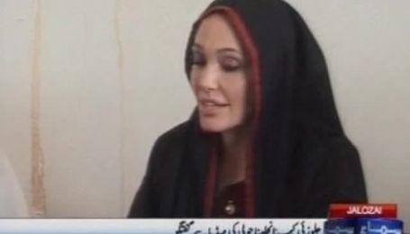 Анджелина Джоли приехала с миссией доброй воли в Пакистан