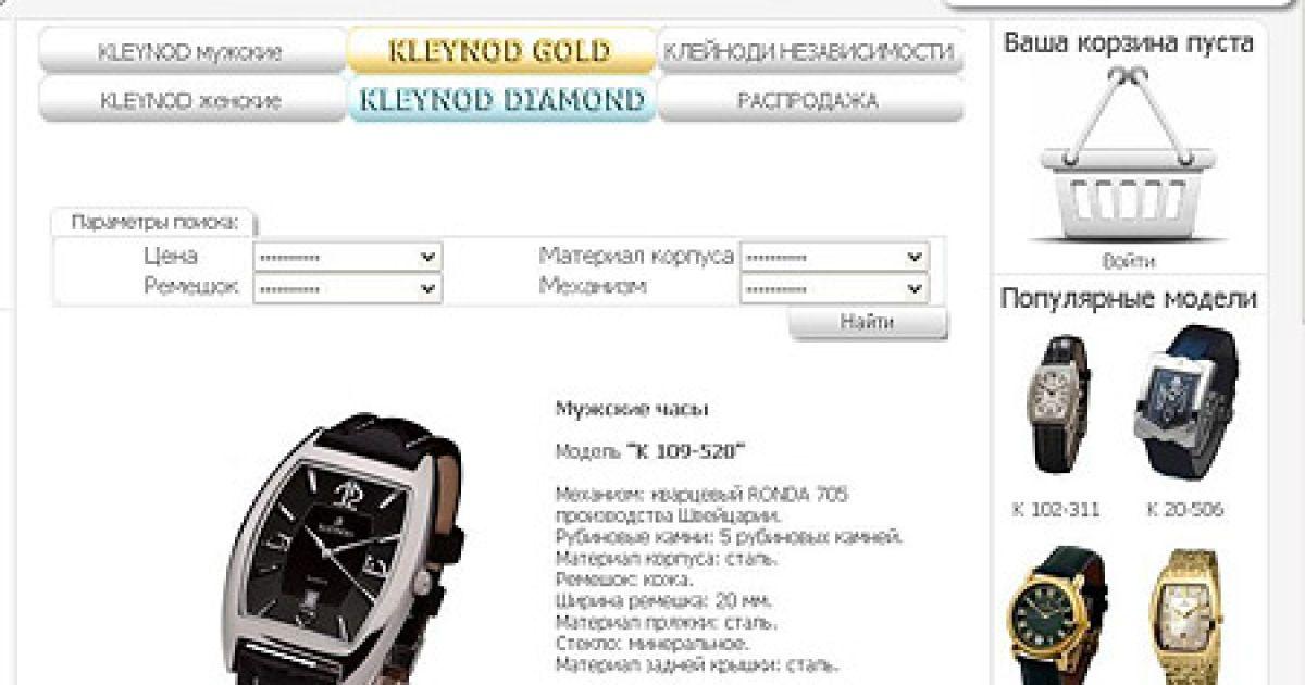 Годинник української фірми KLEYNOD