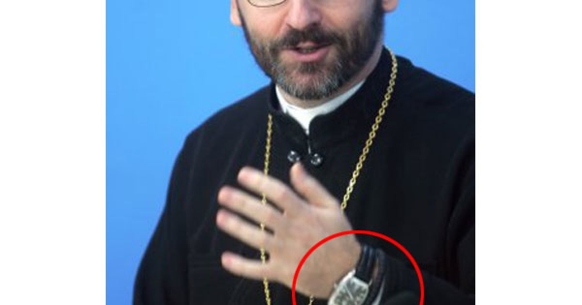 Глава УГКЦ носить український годинник за 90 євро @ УНІАН