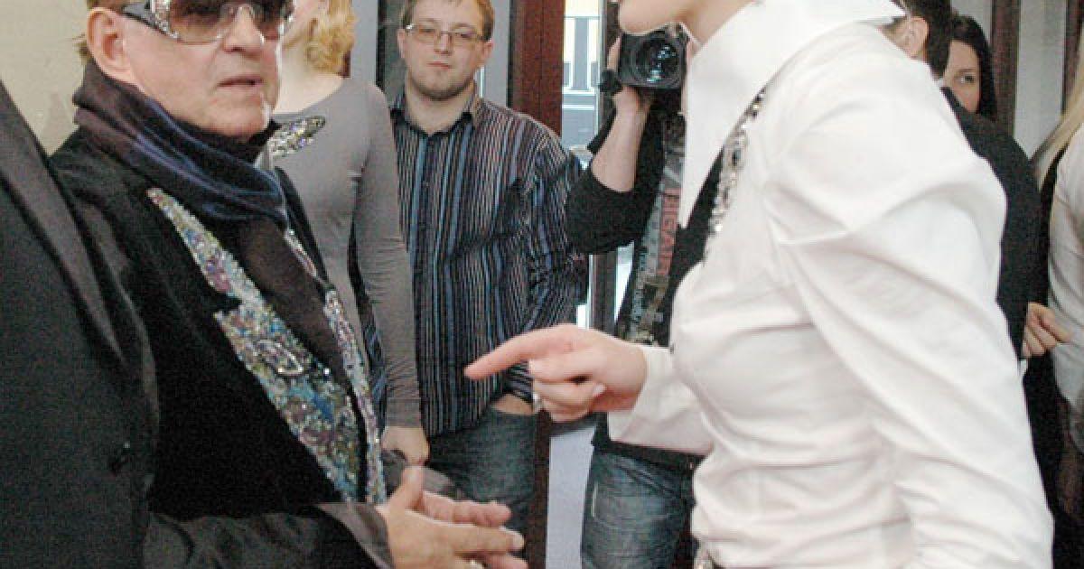 Телеведуча Катя Осадча ставить задачу режисеру Роману Віктюку. @ ТСН.ua