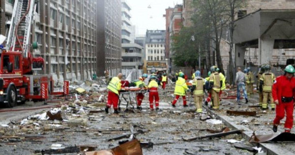 Кривава п'ятниця в Норвегії почалася з вибуху @ AFP