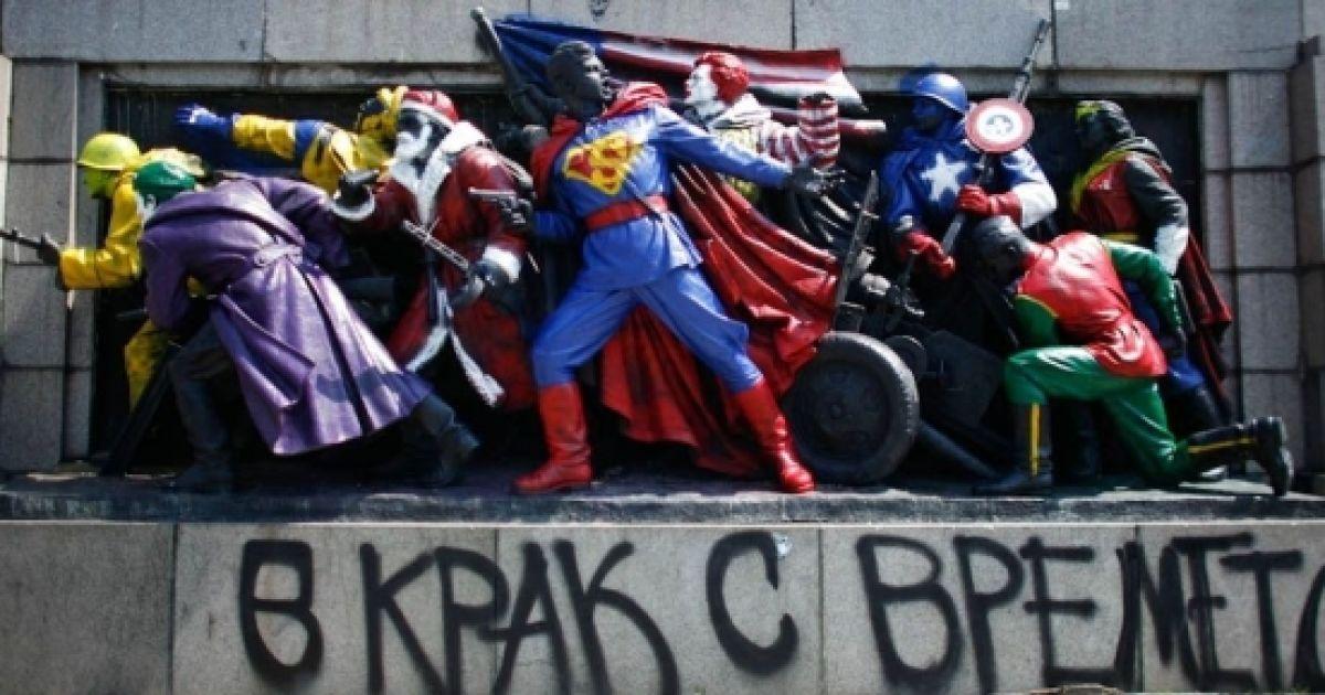 У Болгарії подаровану Росією ялинку прикрасили корабликами з вимогою звільнити українських моряків - Цензор.НЕТ 7092